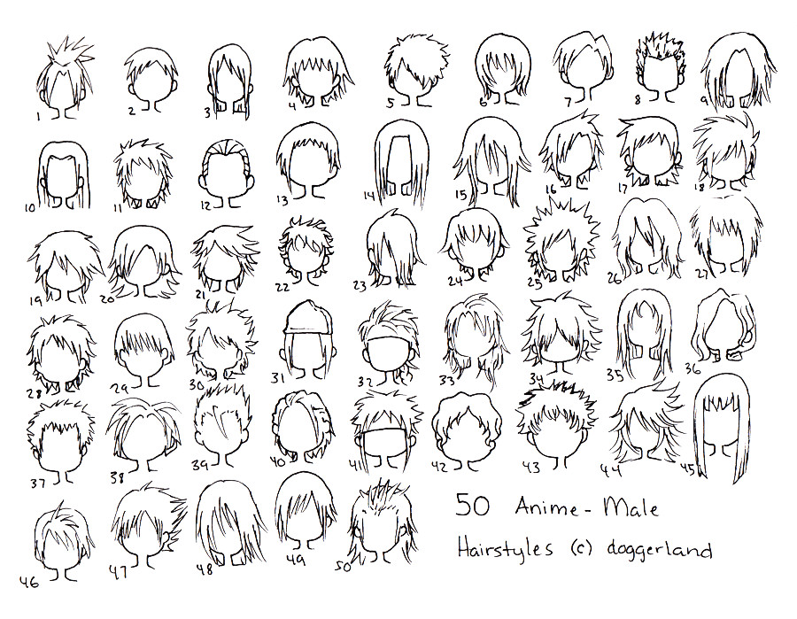 Manga Hairstyles Male  Reference List by AyameTakame on DeviantArt