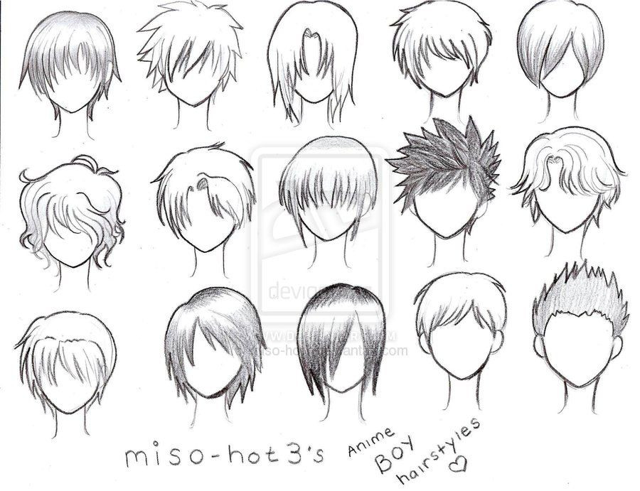 Manga Hairstyles Male  Gallery Anime Boy Curly Hairstyles
