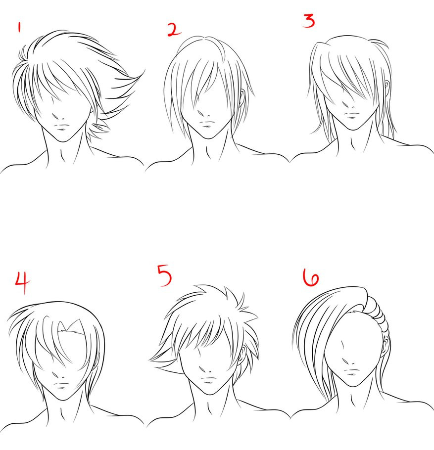 Manga Male Hairstyles  Anime Male Hair Style 1 by RuuRuu Chan on DeviantArt