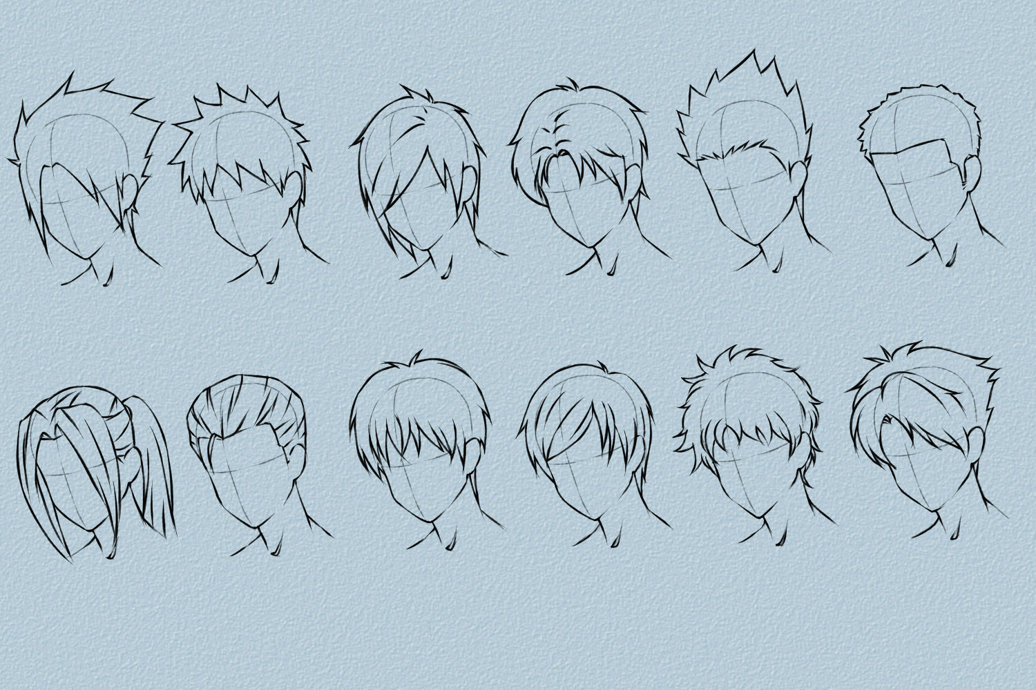 Manga Male Hairstyles  Model hairstyles for Male Anime Hairstyles How to Draw
