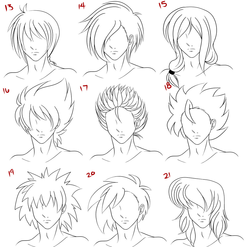 Manga Male Hairstyles  Anime Male Hair Style 3 by RuuRuu Chan on DeviantArt