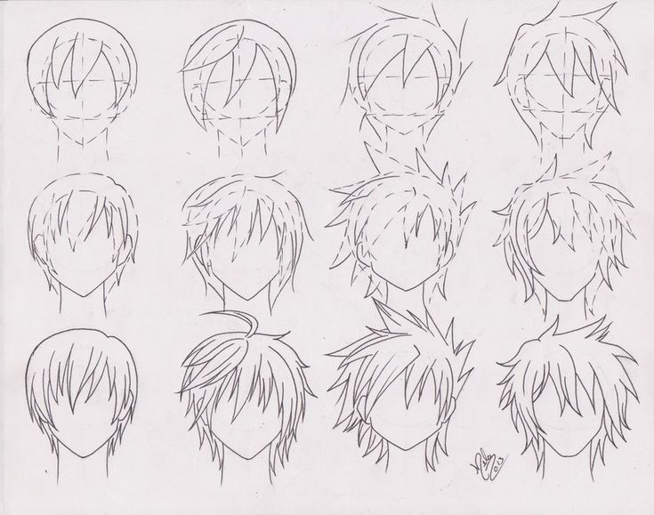 Manga Male Hairstyles  Cool Anime Boy Hairstyles