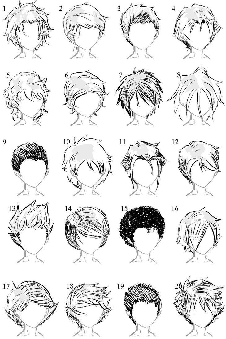 Manga Male Hairstyles  Anime male hair I always need more ideas