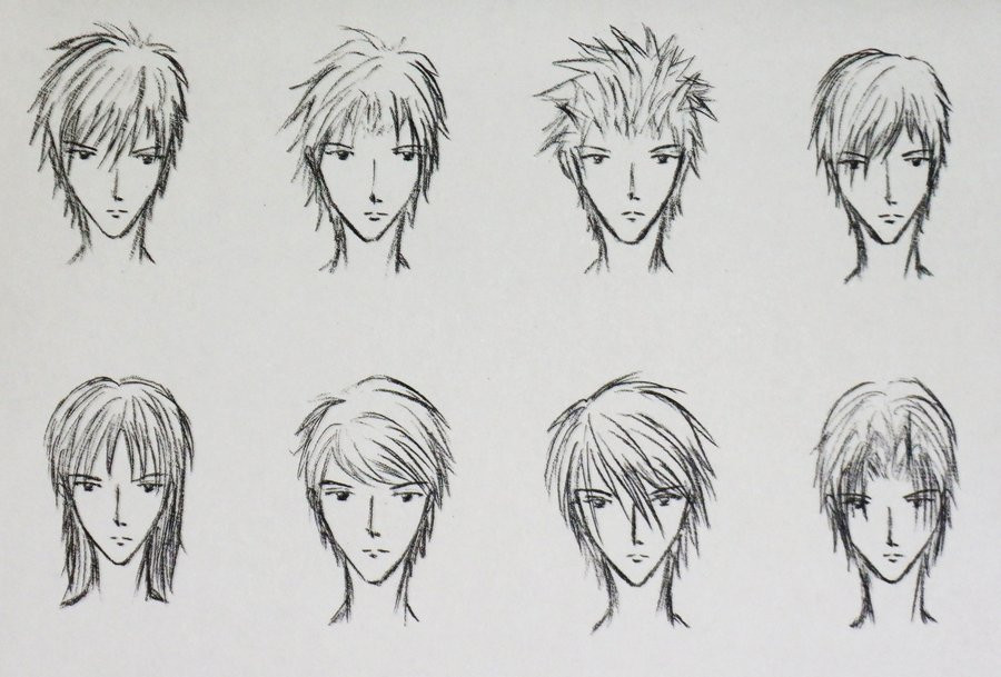 Manga Male Hairstyles  anime hairstyles by xxyesnoxx on DeviantArt