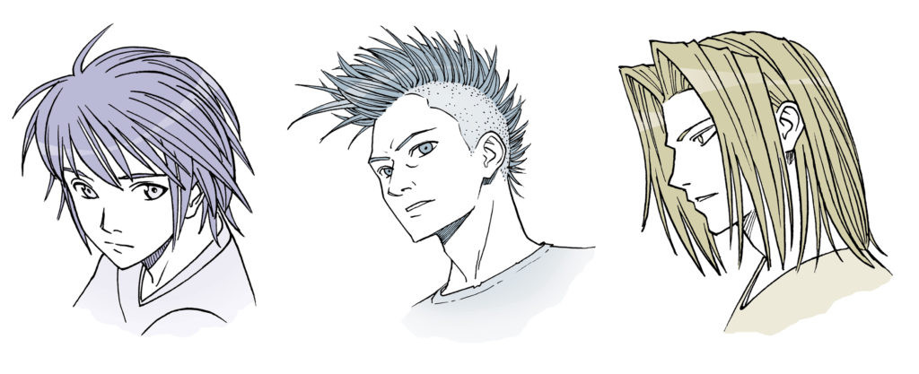 Manga Male Hairstyles  Drawing Anime Hair for Male and Female Characters IMPACT