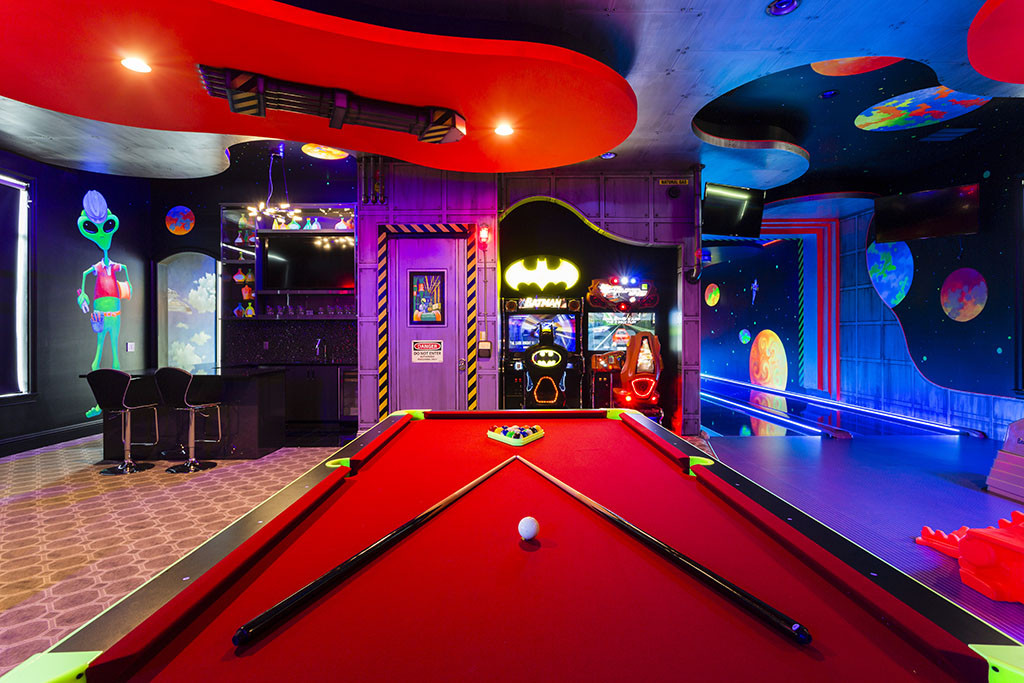 Best ideas about Mansion Game Room . Save or Pin 9 Bedroom Mansion Reunion Resort in Kissimmee Now.