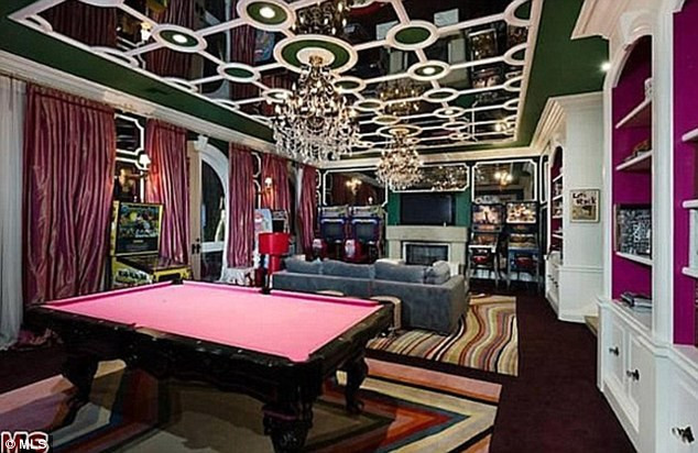 Best ideas about Mansion Game Room . Save or Pin Christina Aguilera sells Beverly Hills home for $13 5 Now.