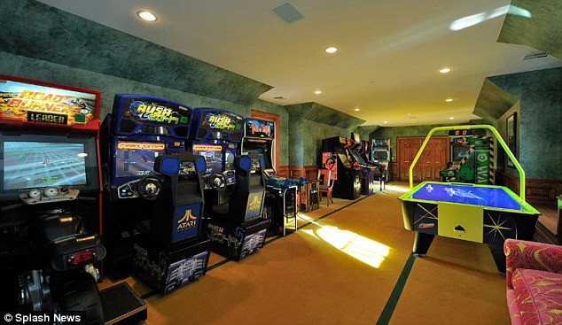 Best ideas about Mansion Game Room . Save or Pin Inside Britney Spears new luxury $20m mansion Now.