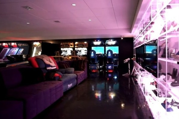 Best ideas about Mansion Game Room . Save or Pin The Game Room Celine Dion s Florida Water Park Mansion Now.