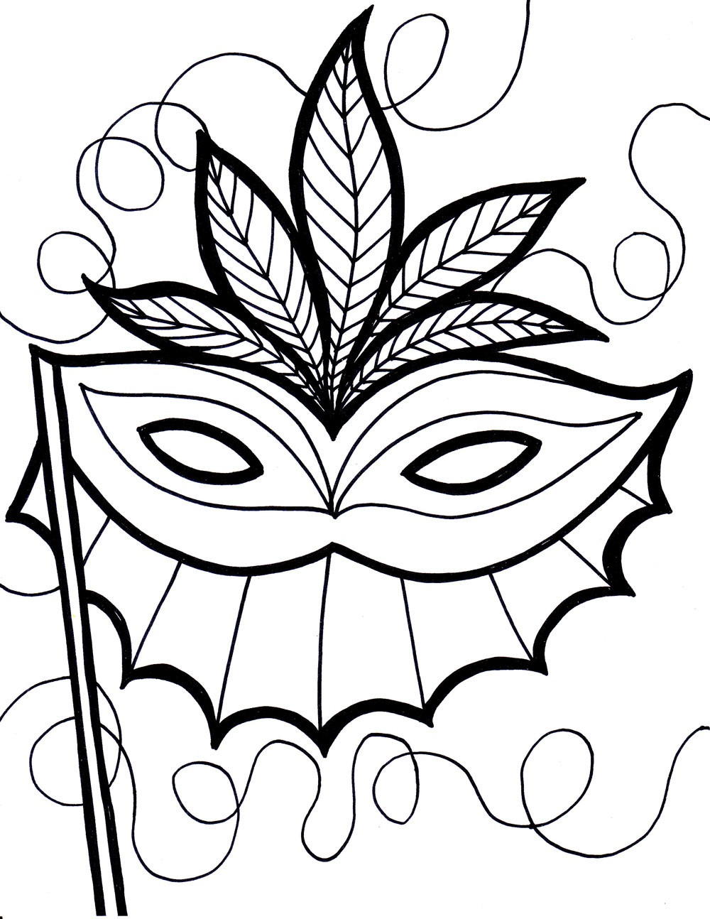 Mardi Gras Coloring Sheets For Kids  Free Printable Mardi Gras Coloring Pages For Kids