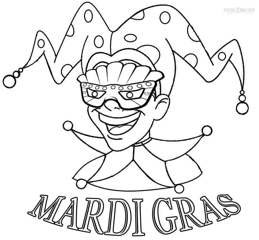 Mardi Gras Coloring Sheets For Kids  Printable Mardi Gras Coloring Pages For Kids