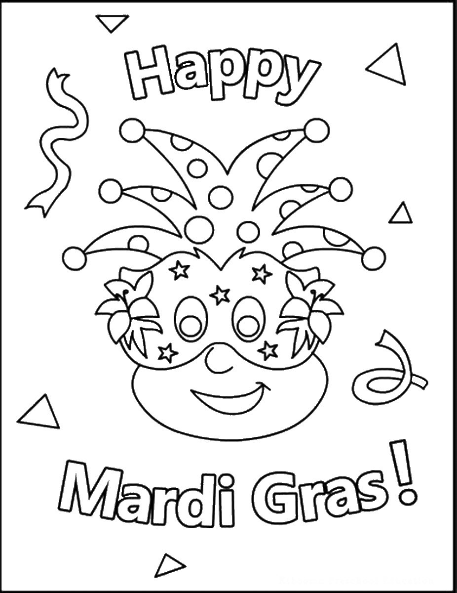 Mardi Gras Coloring Sheets For Kids  Mardi Gras Coloring Pages