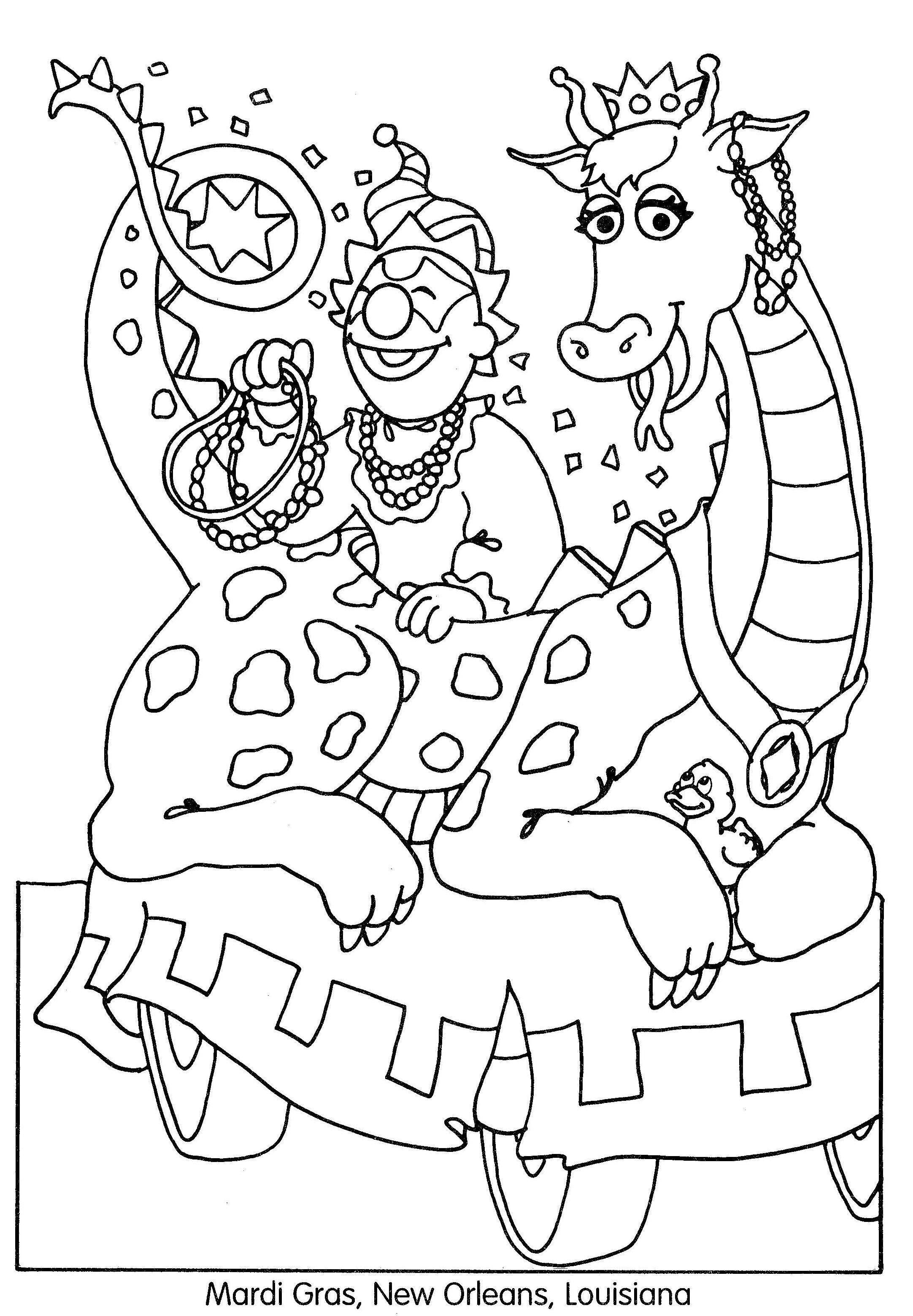 Mardi Gras Coloring Sheets For Kids  mardi gras coloring pages free coloring pages for kids 18