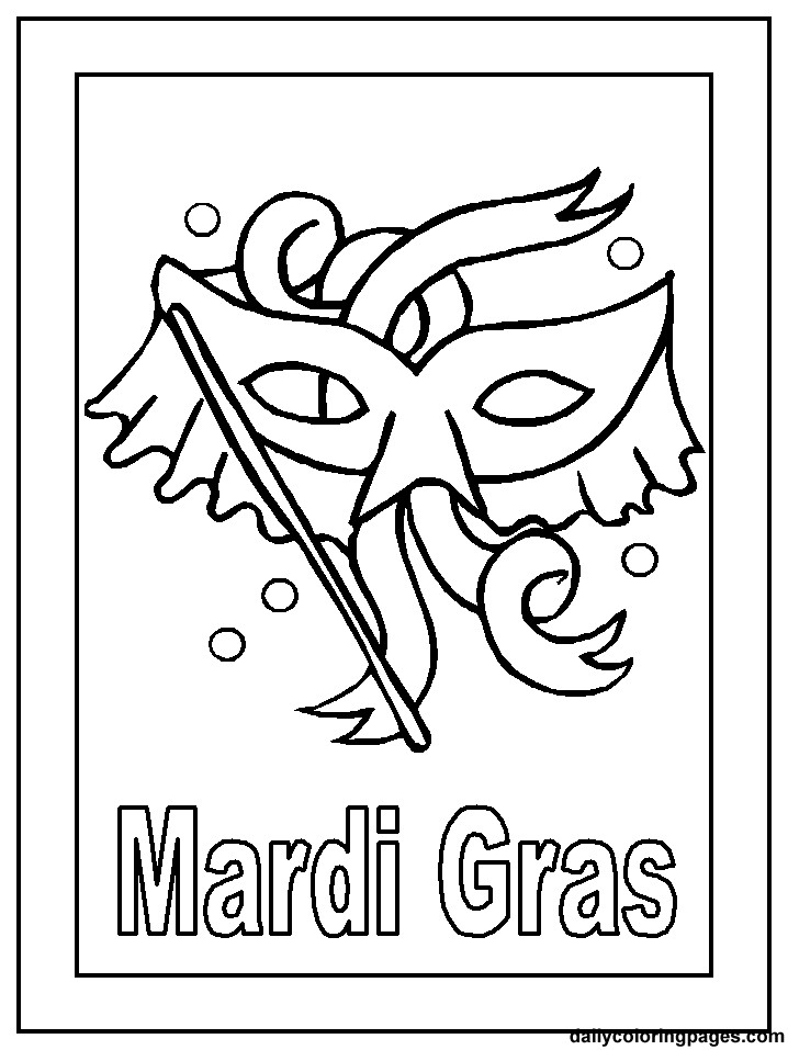Mardi Gras Coloring Sheets For Kids  Mardi Gras Masks Coloring Pages Coloring Home