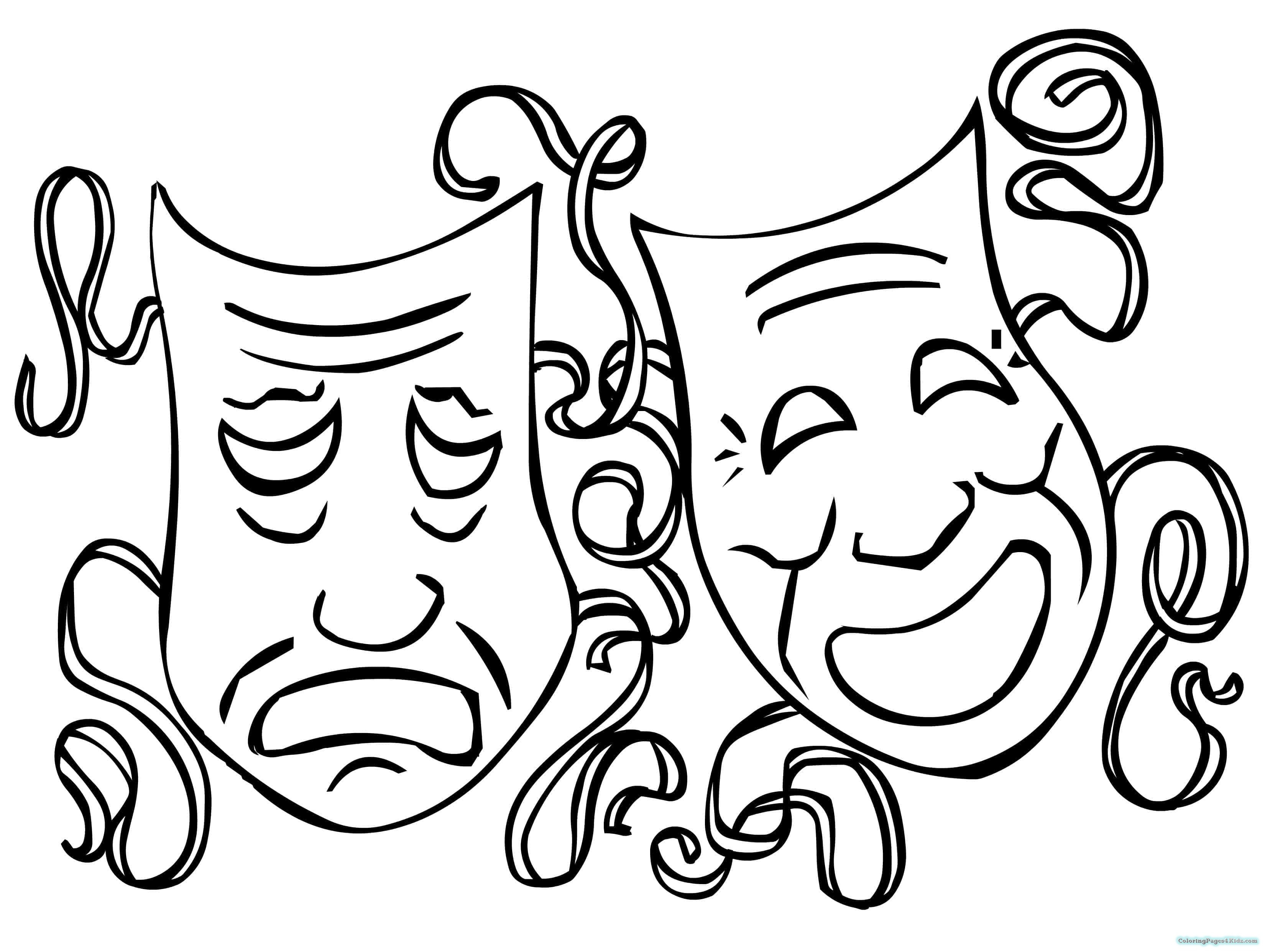 Mardi Gras Coloring Sheets For Kids  Mardi Gras Mask Coloring Pages For Kids