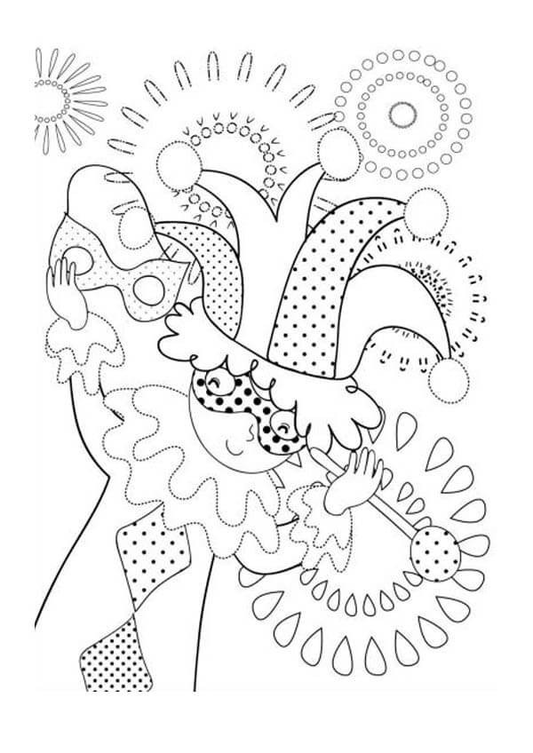 Mardi Gras Coloring Sheets For Kids  Free Printable Mardi Gras Coloring Pages