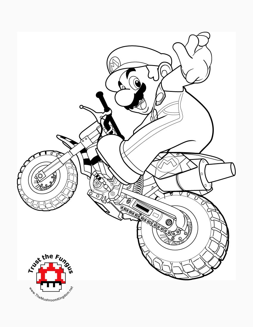 Mario Kart Coloring Pages  TMK Blog Archive