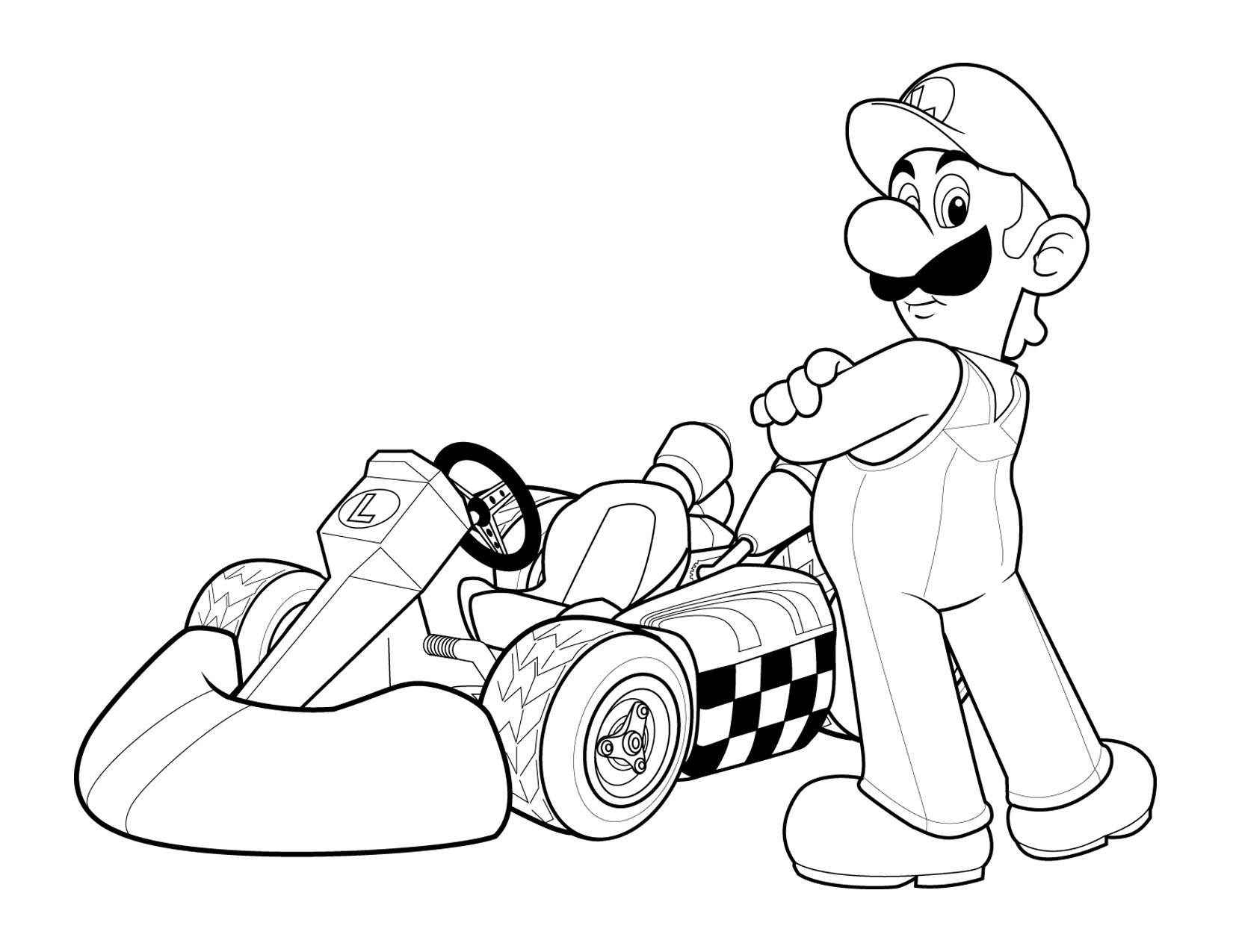 Mario Kart Coloring Pages  Free Printable Mario Coloring Pages For Kids