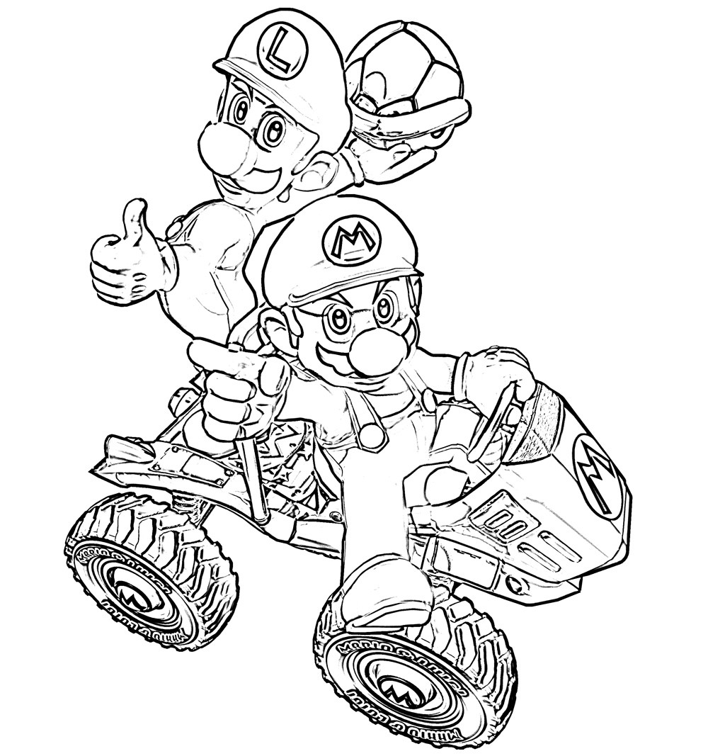 Mario Kart Coloring Pages  Mario Kart Coloring Pages Best Coloring Pages For Kids