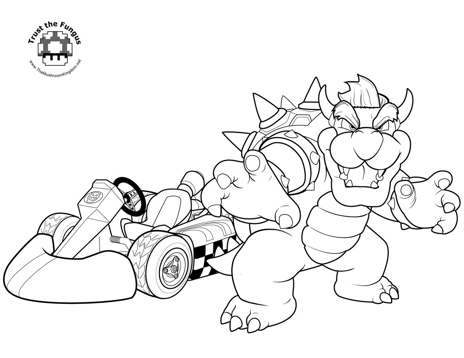 Mario Kart Coloring Pages  Mario Coloring pages Black and white super Mario