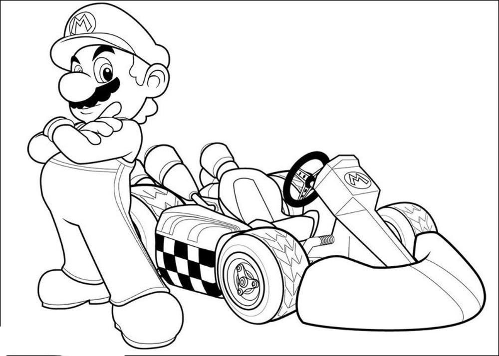 Mario Kart Coloring Pages  mario kart coloring pages