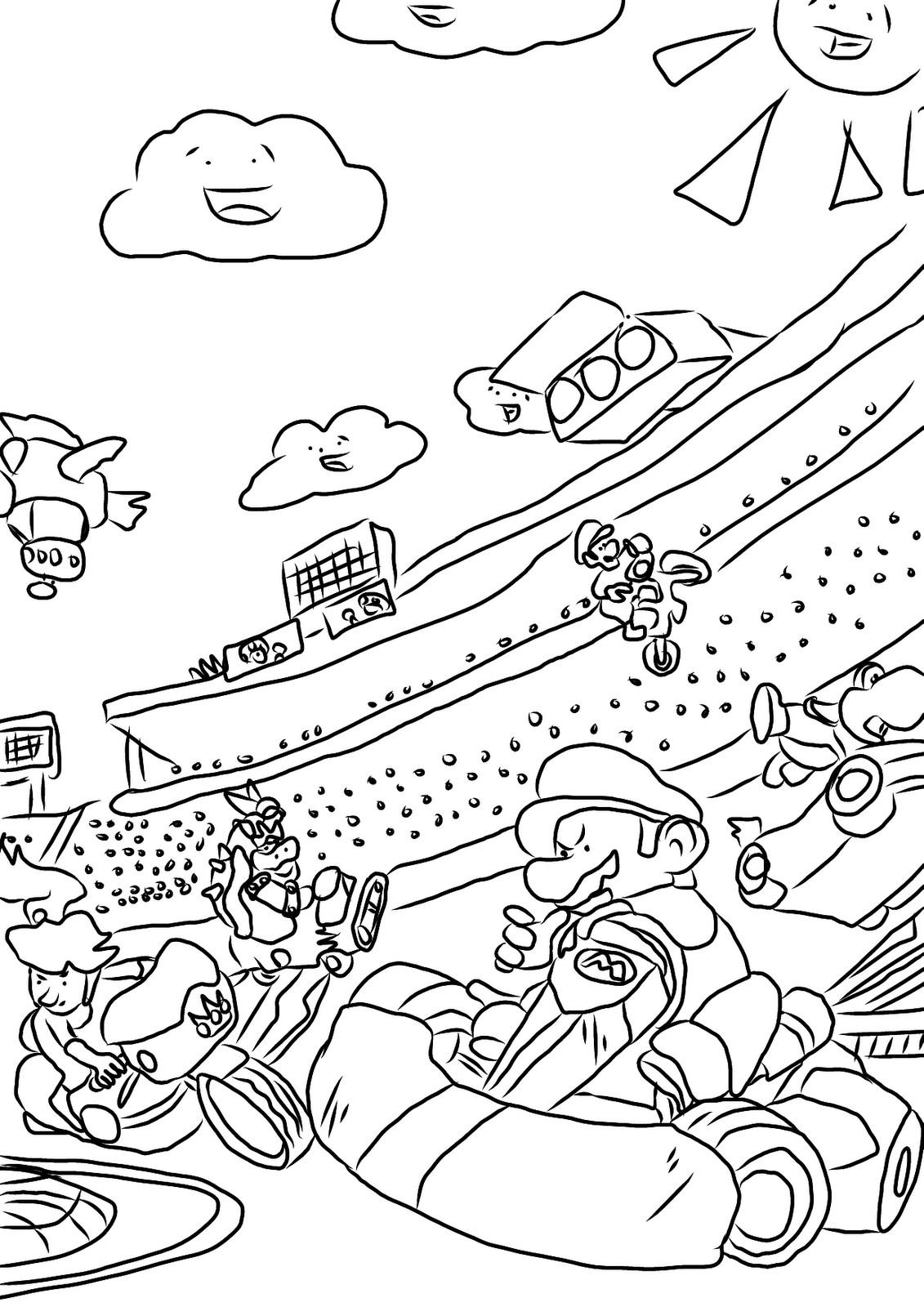 Mario Kart Coloring Pages  Mario Kart Coloring Pages Best Coloring Pages For Kids