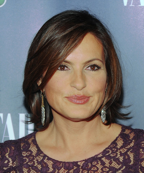 Best ideas about Mariska Hargitay Short Hairstyles . Save or Pin Mariska Hargitay Short Straight Formal Hairstyle with Side Now.