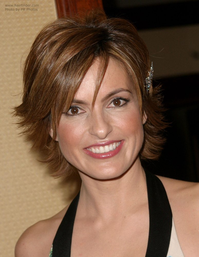 Best ideas about Mariska Hargitay Short Hairstyles . Save or Pin Mariska Hargitay Wearing Her Hair Short With A Longer Neck Now.