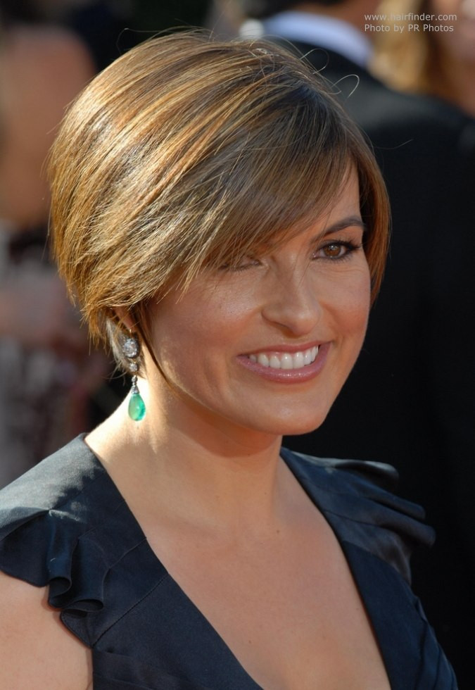 Best ideas about Mariska Hargitay Short Hairstyles . Save or Pin Mariska Hargitay s short and sporty head hugging hairstyle Now.