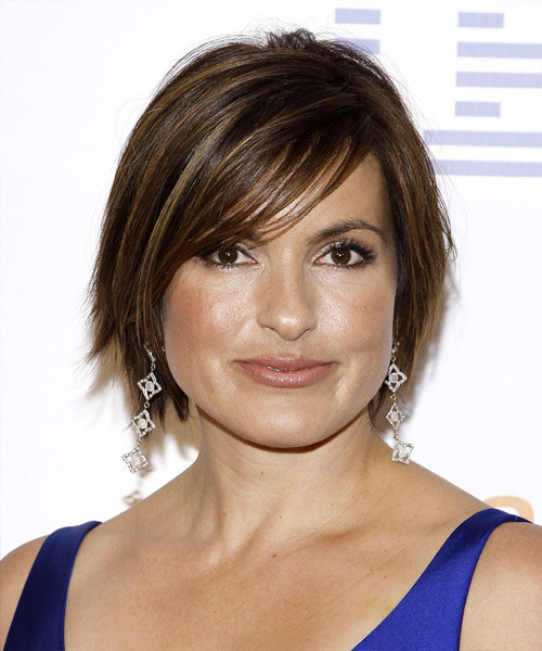 Best ideas about Mariska Hargitay Short Hairstyles . Save or Pin Mariska Hargitay Short Straight Casual Hairstyle with Side Now.