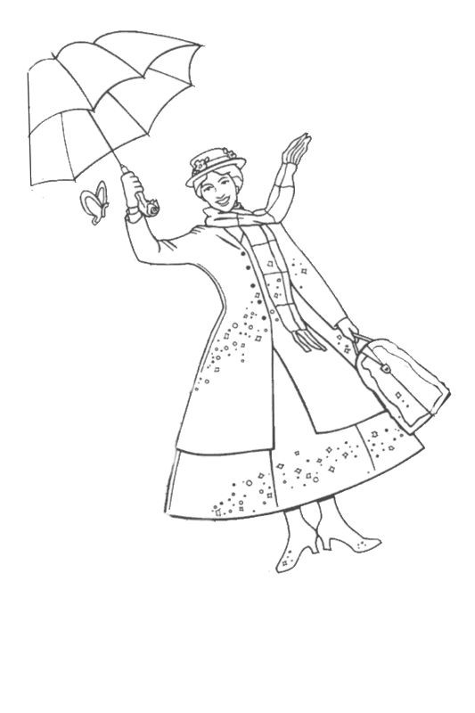 Mary Poppins Coloring Pages  14 kids coloring pages mary poppins Print Color Craft