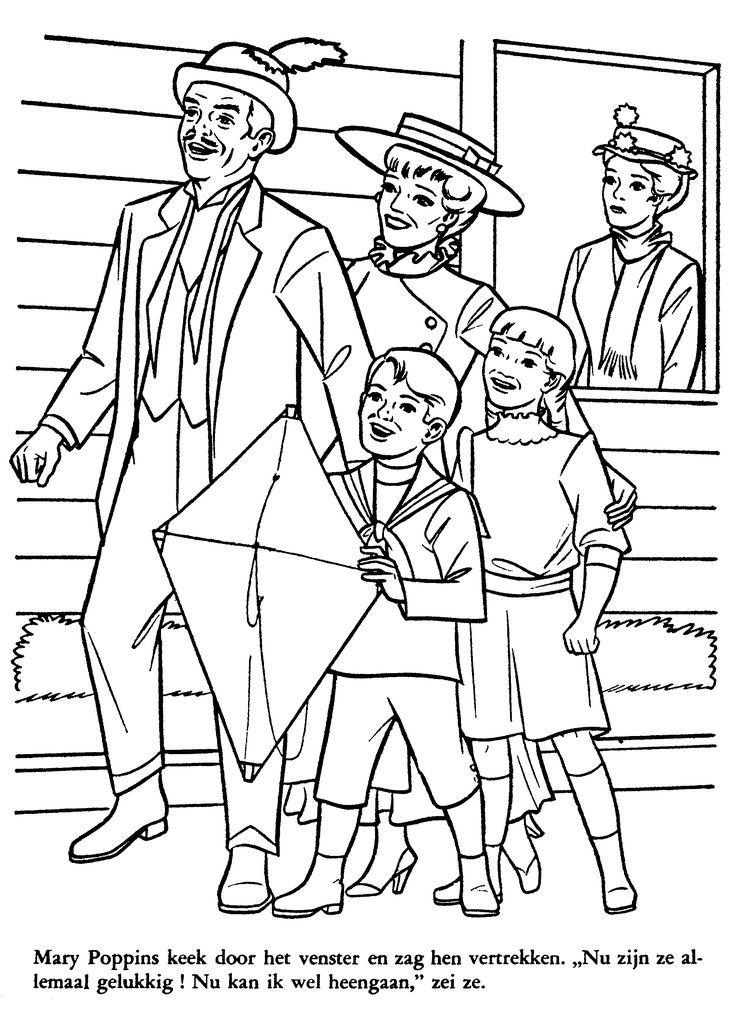 Mary Poppins Coloring Pages  1286 best colouring sheets images on Pinterest