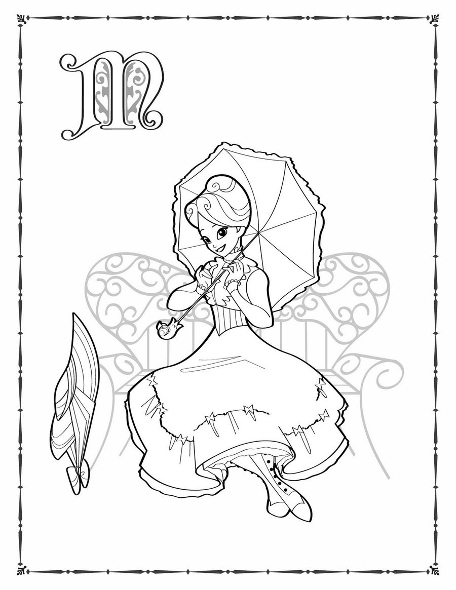 Mary Poppins Coloring Pages  Mary Poppins coloring by BetterthanBunnies on DeviantArt