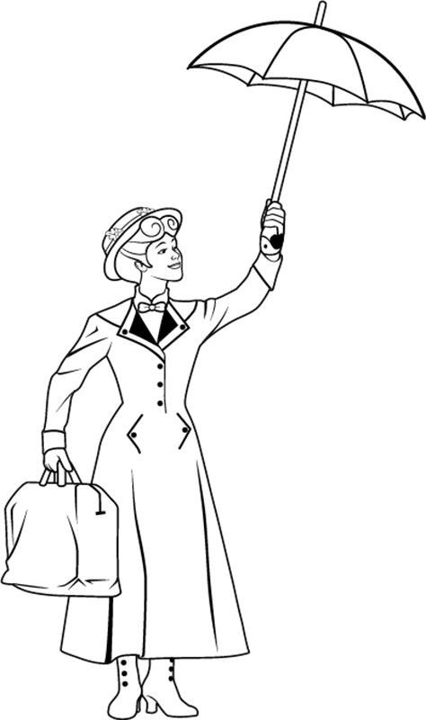 Mary Poppins Coloring Pages  Mary Poppins coloring pages Coloring Page