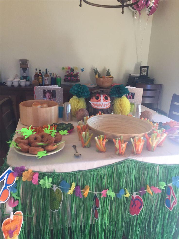 Maui Birthday Party  Decoraciones Moana Proyectos que intentar