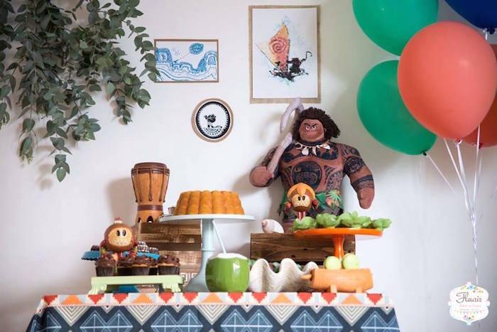 Maui Birthday Party  Kara s Party Ideas Moana s Maui Inspired Birthday Party