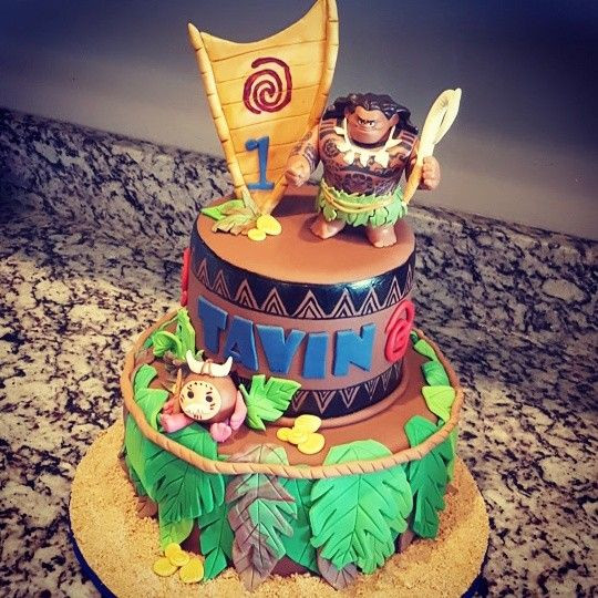 Maui Birthday Party  Maui Cake by Trina Truman Sweetcreationscakes&cupcakes
