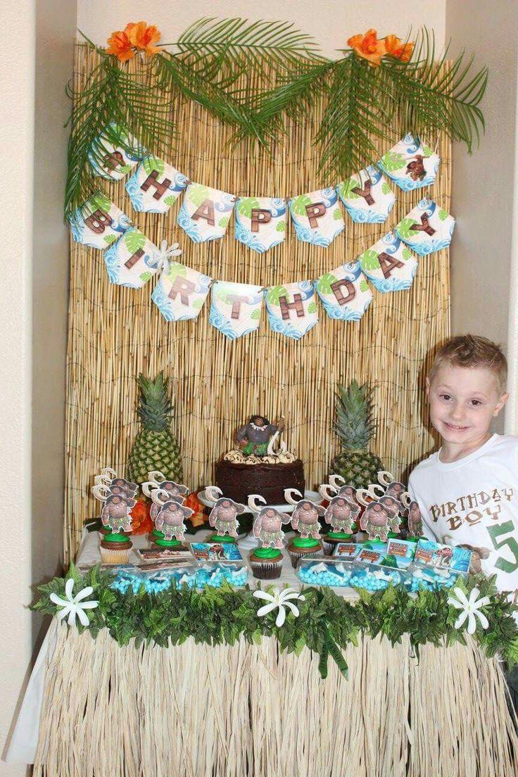 Maui Birthday Party  Maui Moana birthday party decor