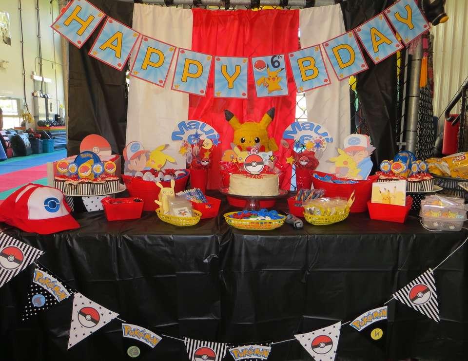 "Maui Birthday Party  Pokemon Trainer s Training Birthday ""Pokemon 6th"