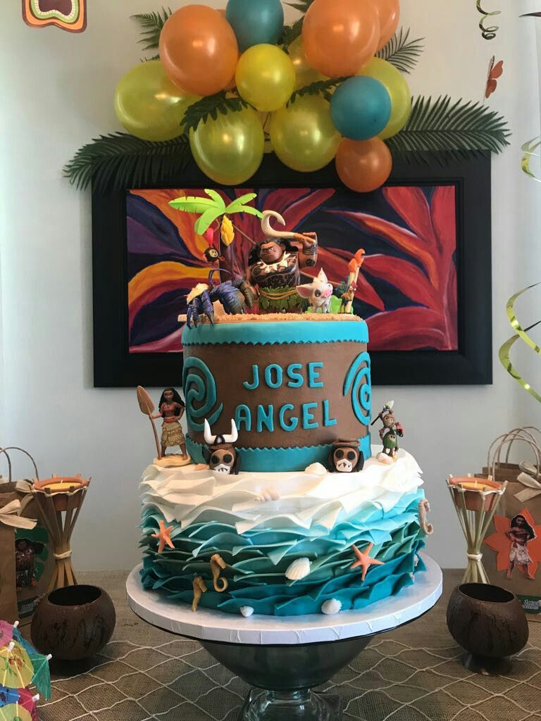 Maui Birthday Party  JA Maui bday Bizcochos Infantiles