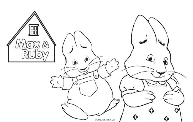 Max And Ruby Coloring Pages  Free Printable Max and Ruby Coloring Pages For Kids