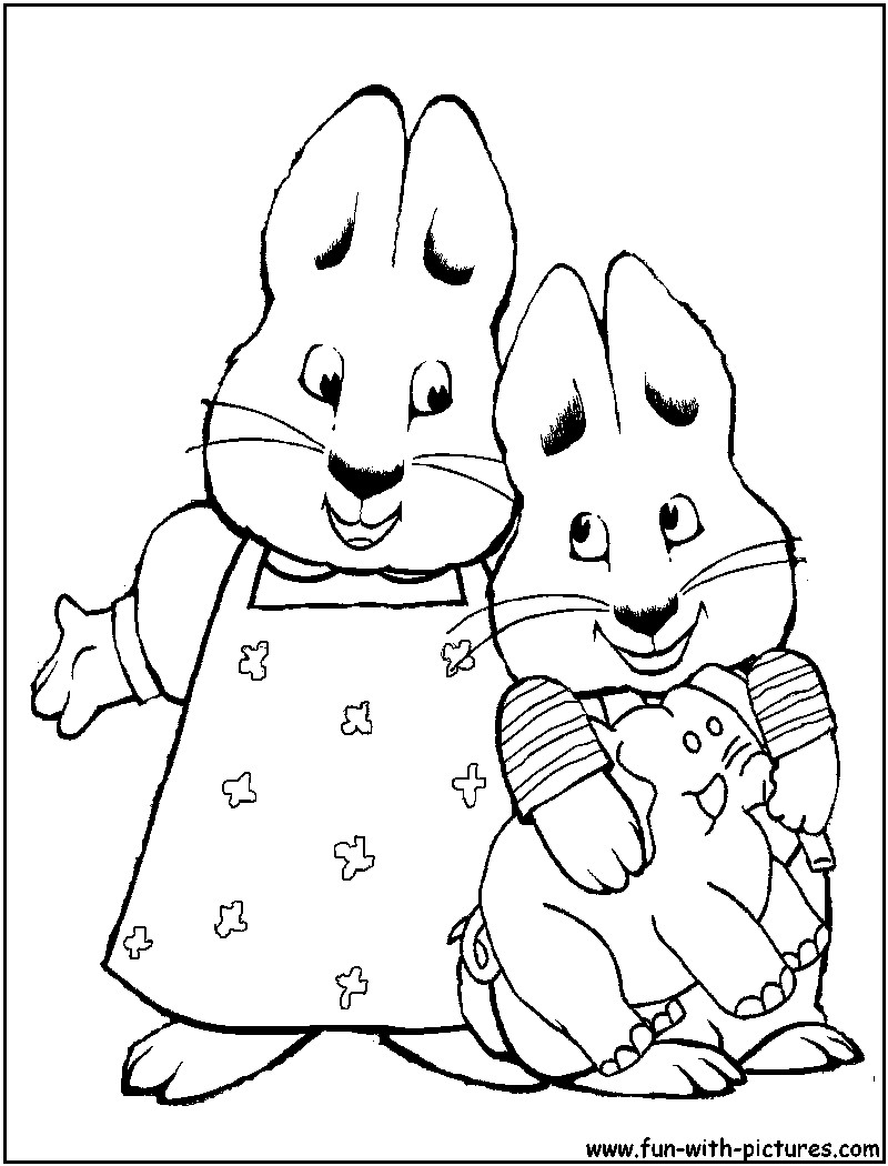 Max And Ruby Coloring Pages  Max And Ruby Printable Coloring Pages Coloring Home