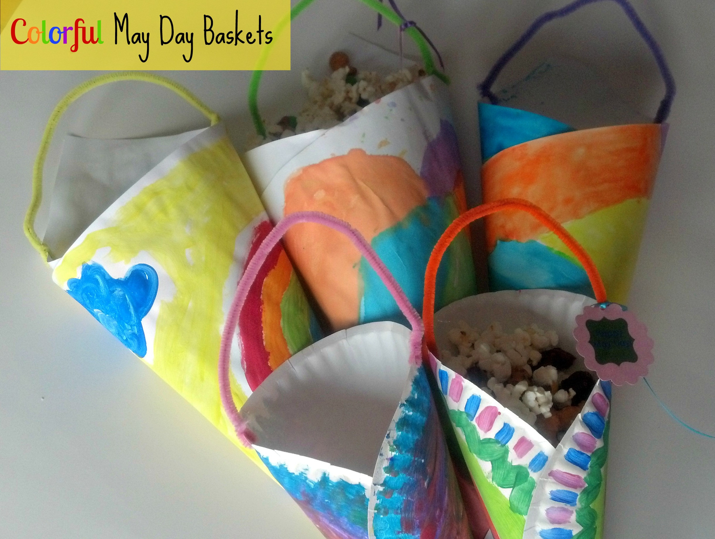 May Crafts For Preschoolers  Spring Craft Colorful May Day Baskets