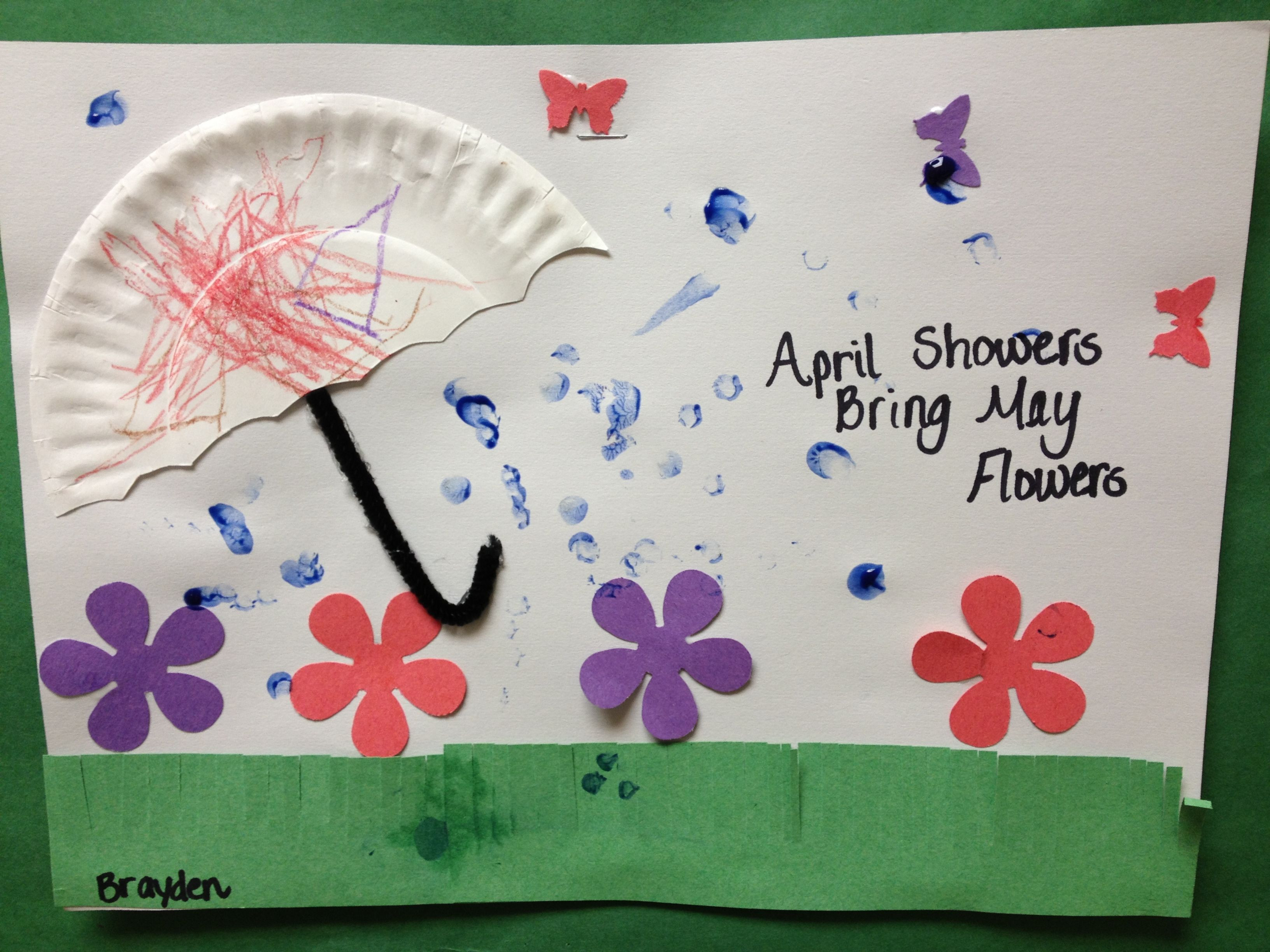 May Crafts For Preschoolers  Preschool Spring Art April Showers Bring May Flower The