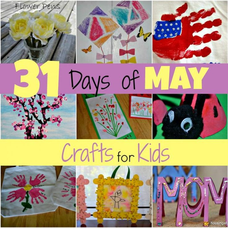 May Crafts For Preschoolers  31 Days of May Crafts for Kids from Tina Pearson Mamas
