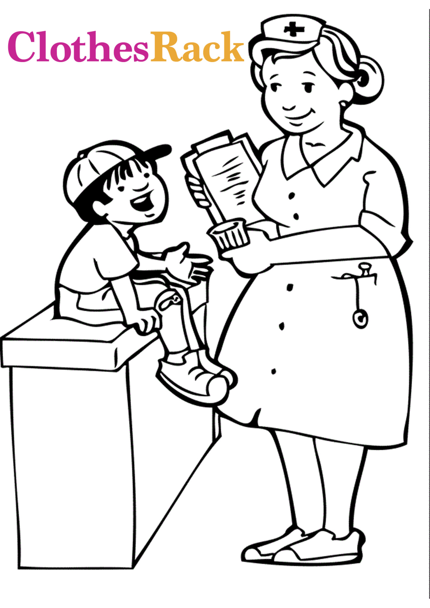 Medical Coloring Sheets For Kids  Free Medical Colouring Pages For Kids