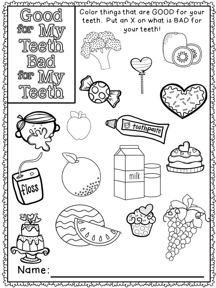 Medical Coloring Sheets For Kids  25 best ideas about Dental health on Pinterest