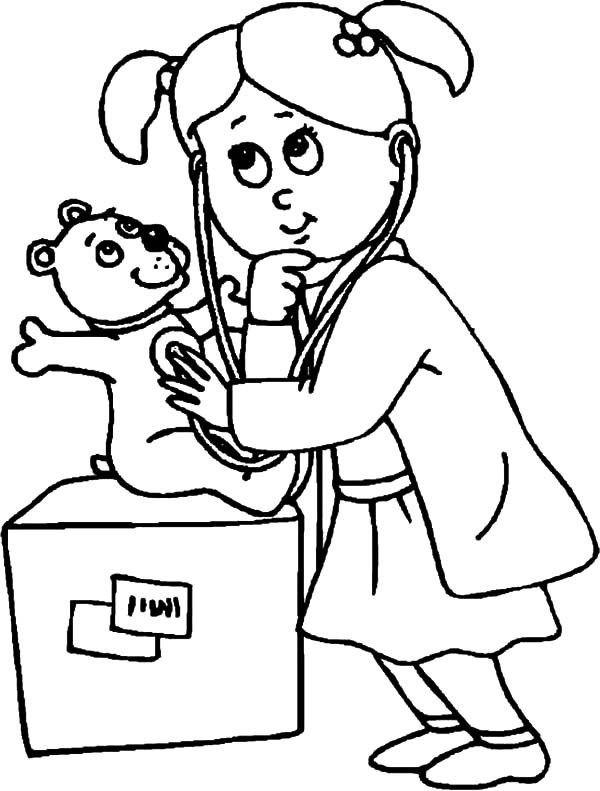 Medical Coloring Sheets For Kids  Free Health Care Coloring Pages
