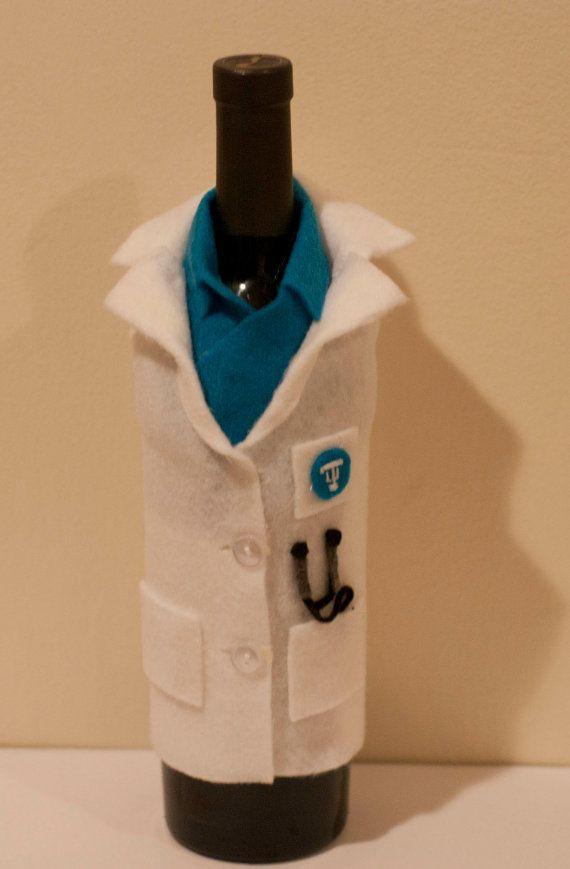 Medical School Graduation Gift Ideas  Wine Glass Sleeve for Medical School Graduation by