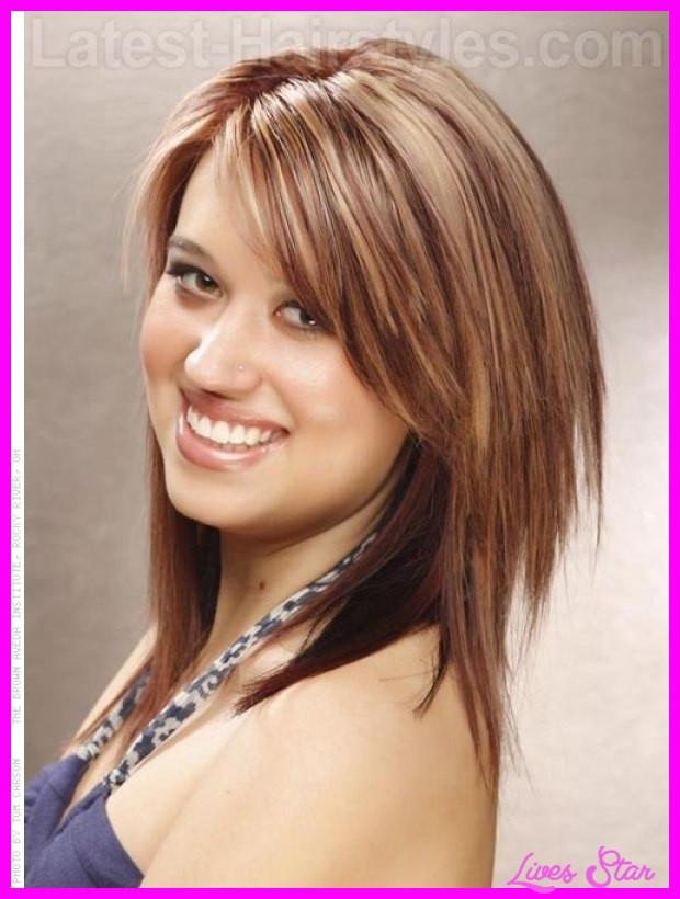 Medium Cut Hair  Medium haircut for round face LivesStar
